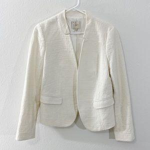LOFT White Fitted Peplum Blazer Size 6